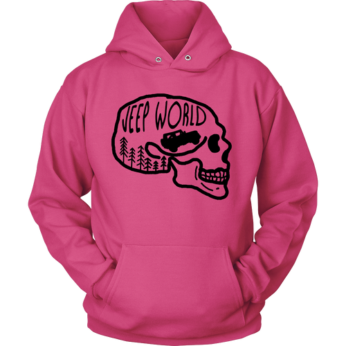 Jeep World Black Skull Hoodie