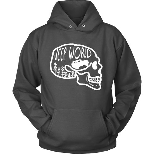 Jeep World White Skull Hoodie