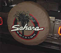 Mopar Jeep Sahara Tire Cover, Tan (Wrangler CJ, YJ, TJ, & JK)