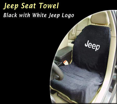 Jeep Seat Towel Black with Jeep Logo