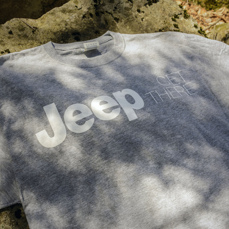 "Jeep ""Get There"" T-Shirt, Heather Gray"
