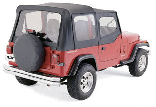 Rampage Soft Top Kit, Black Diamond with Tinted Windows - 68535 ('97-'06 Wrangler TJ Soft Upper Doors)