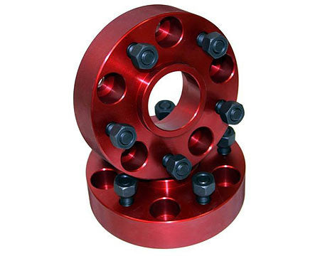 Wrangler wheel spacers, red