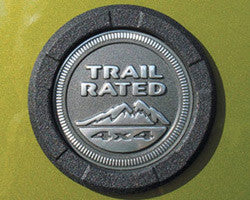 RealWheels Trail Rated Logo Surround-RW220-1BP-J ('07-'18 Wrangler JK)
