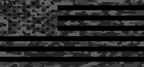 """Tactical American Flag Digital Camo"" Grille Insert From Dirty Acres (Wrangler, Gladiator, Renegade, G.Cherokee)"