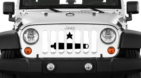 """Take It"" Grille Insert by Dirty Acres ('76 - '19 Wrangler CJ, YJ, TJ, JK, JL)"