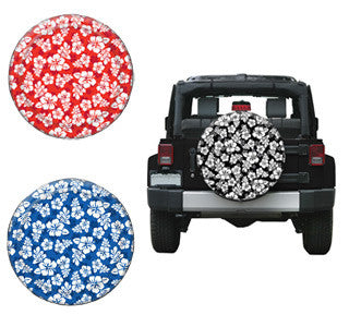 Hibiscus Flower Tire Covers