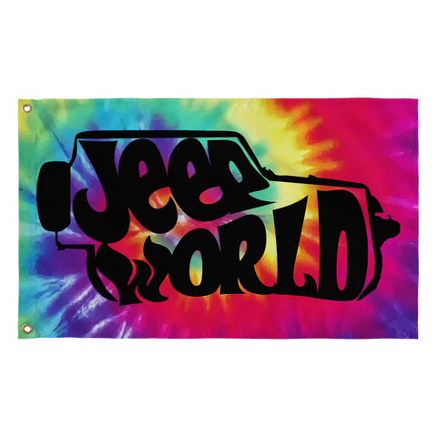 Jeep World Tie-Dye Flag