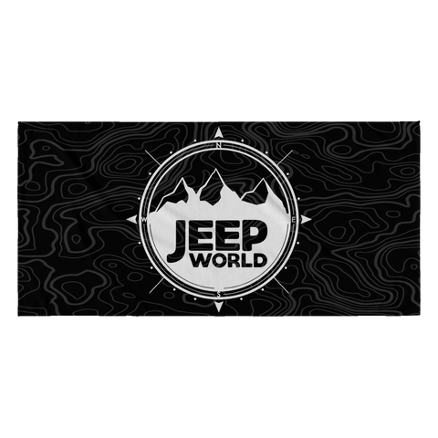 Jeep World Terrain Beach Towel
