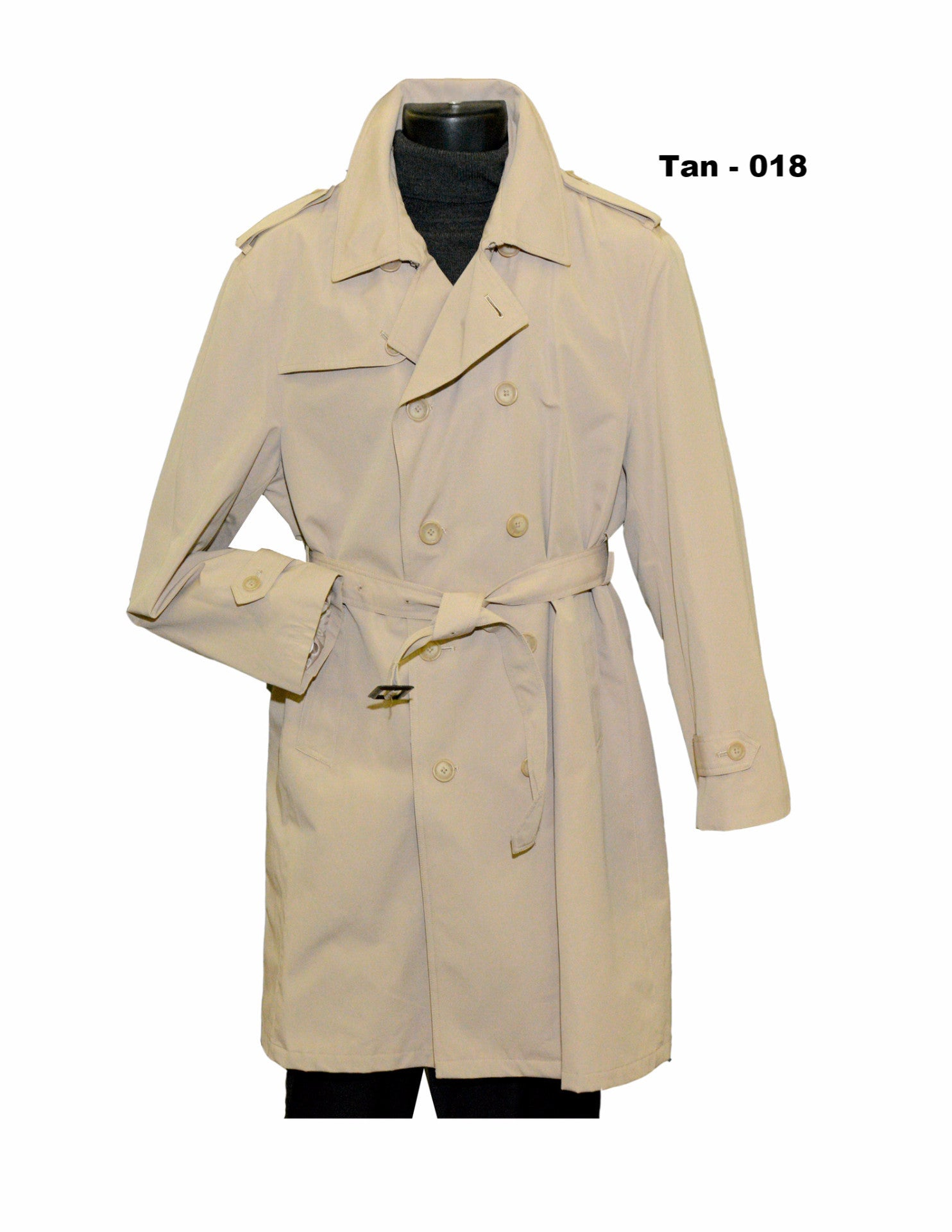 tan double breasted 44 inch full length rain coat outerwear
