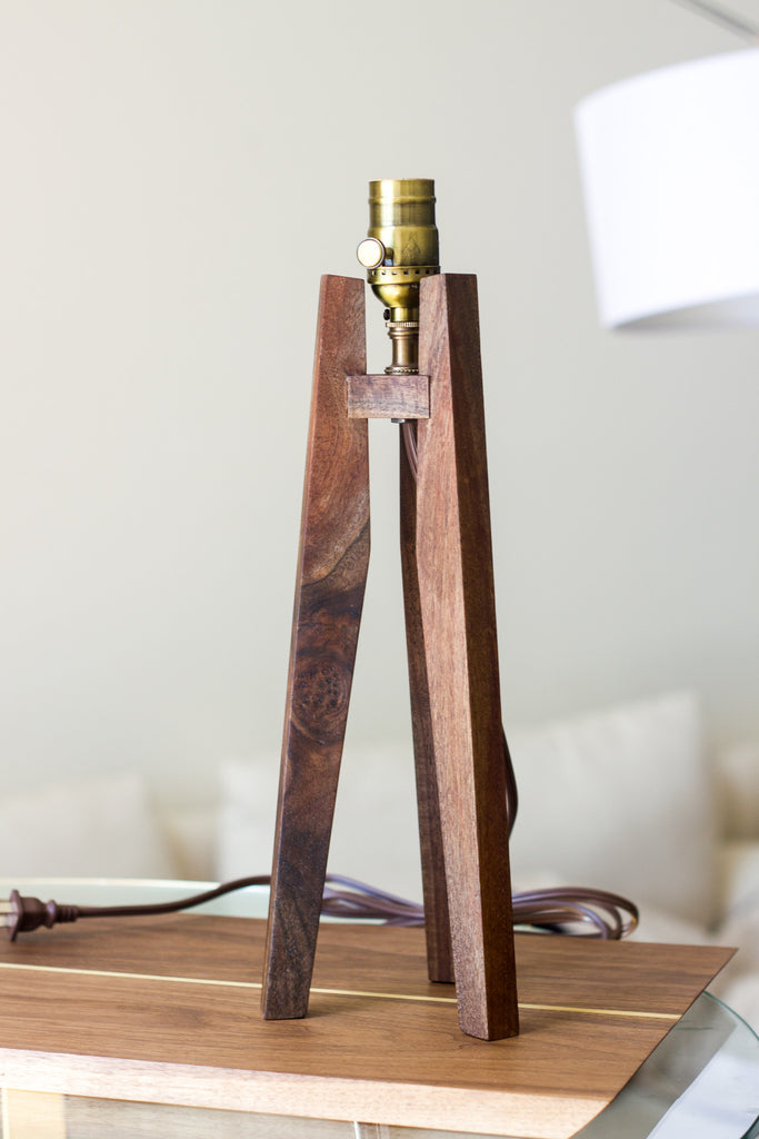 Claro Walnut Tripod Table Lamp