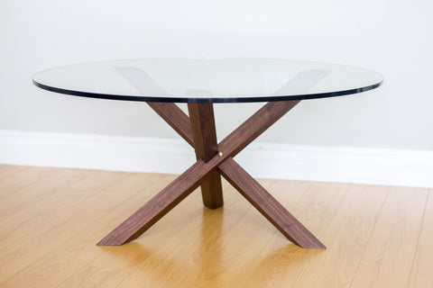Modern Jack Coffee Table - Walnut and Brass - Object Modern