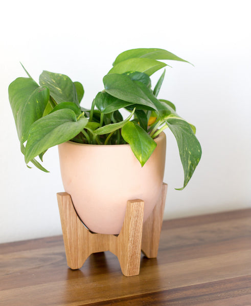 Modern Planter with Plant Stand - Tabletop Bell - Object Modern