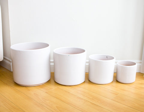 Modern Cylinder Ceramic Pots - Seconds