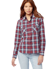 Women's Frontier ShirtRed/Navy Multi