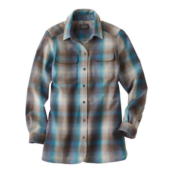 Board Shirt <br> Blue & Tan Ombré Plaid