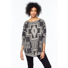 Harding Oversized Pullover  Black Multi