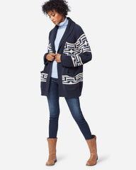 Las Cruces Cotton Cardigan Indigo