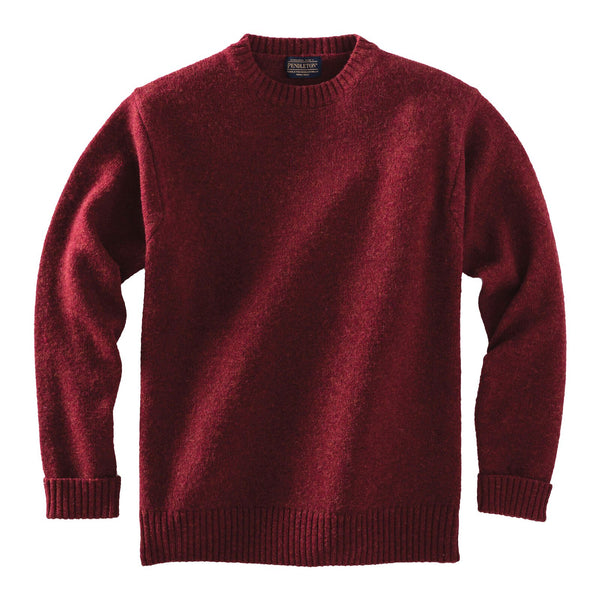 Shetland Crew Sweater <br> Scarlet Red