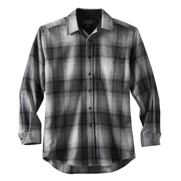 Tall Lodge Shirt <br> Brown & Navy Plaid
