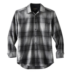 Tall Lodge Shirt  Brown & Navy Plaid