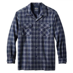 Board Shirt  Navy/Grey Space Dye Plaid