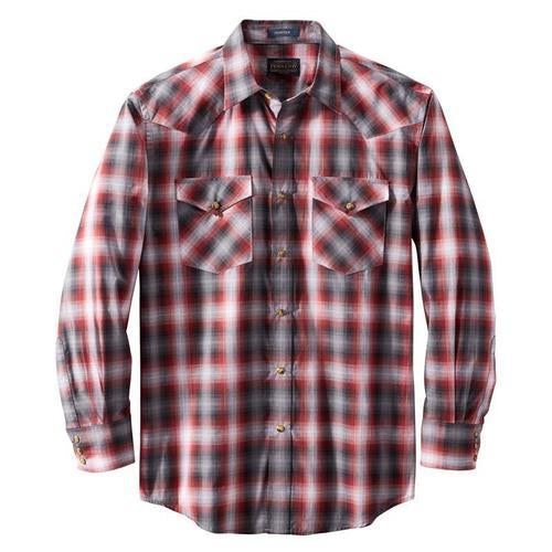 Long Sleeve Frontier Shirt <br> Red/Black Plaid