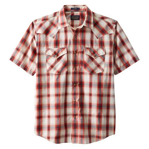 Short Sleeve Frontier Shirt <br> Red Plaid