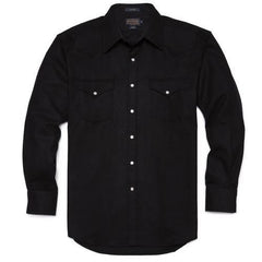 Canyon Shirt  Black Flannel