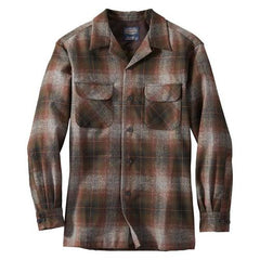 Fitted Board Shirt  Grey/Brown/Olive Ombre