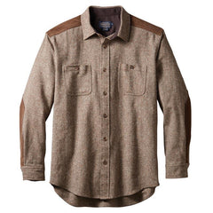 Wool Donegal Outdoor Shirt  Brown Donegal