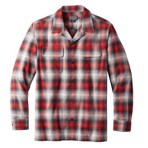 Cotton Board Shirt <br> Black Grey Red Ombre