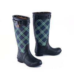 Heritage Print Tall Rubber Boot <br> Black Watch Plaid