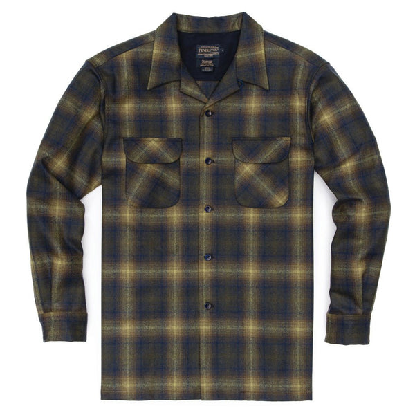 Fitted Board Shirt <br> Olive & Blue Ombre
