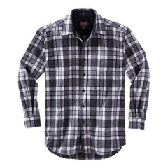 Fitted Lodge Shirt  Grey & Ivory Plaid