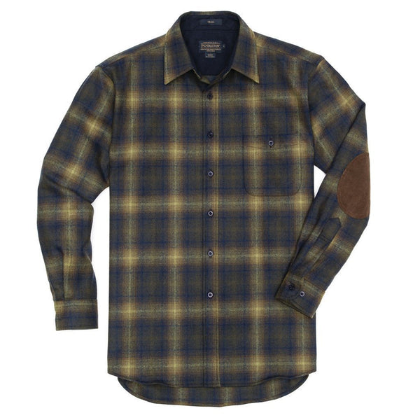 Fitted Trail Shirt <br> Olive & Blue Ombre