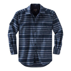Fitted Lodge Shirt  Indigo Stripe
