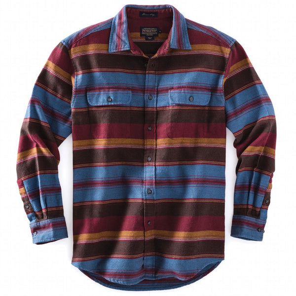 Fitted Camber Stripe Shirt <br> Brown Berry Stripe