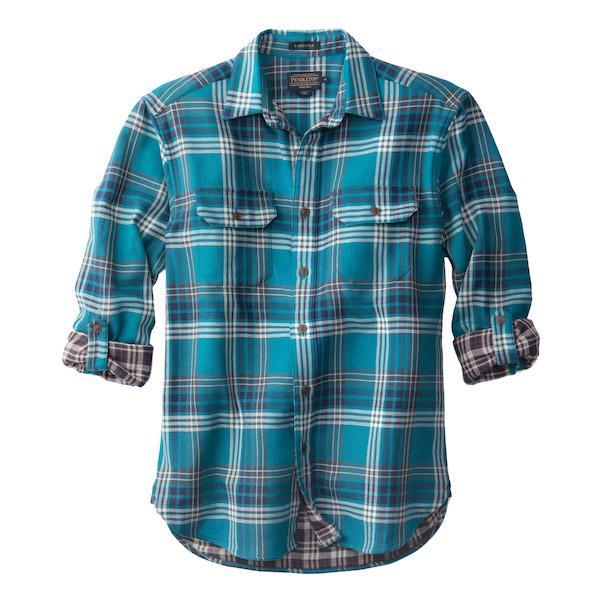 Fitted Fairbanks Shirt <br> Turquoise & Brown Plaid