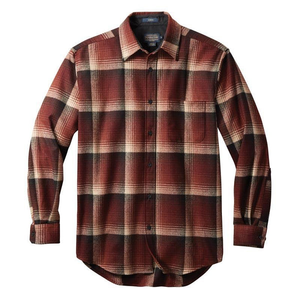 Tall Lodge Shirt <br> Maroon Ombre