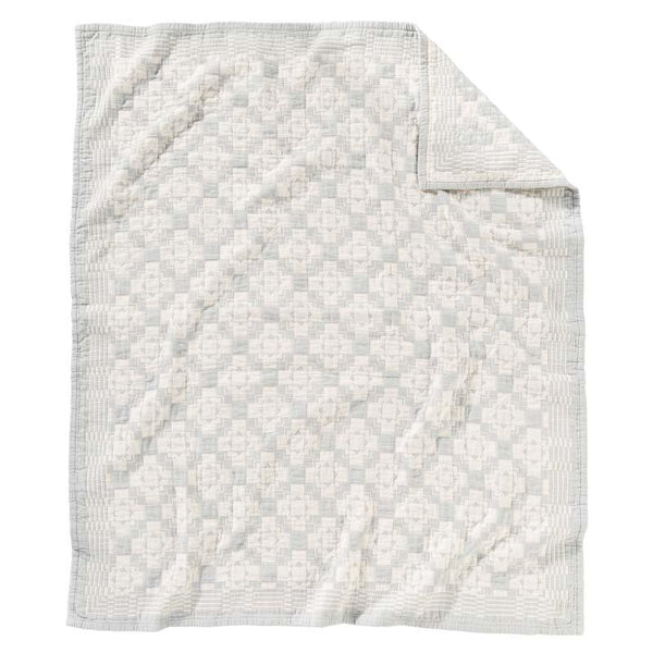 Cotton Matelasse Blanket <br> Chief Joseph Slate