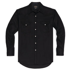 Fitted Canyon Shirt  Black Flannel