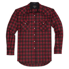 Fitted Canyon Shirt  Red & Dark Red Plaid