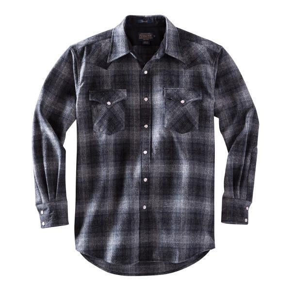Fitted Canyon Shirt <br> Charcoal Grey Plaid