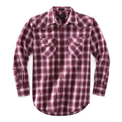 Frontier Shirt  Brick Red & Grey Plaid