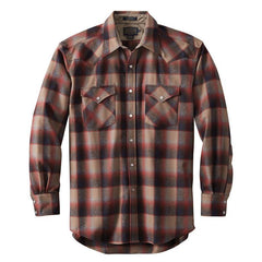 Canyon Shirt  Red & Tan Ombré