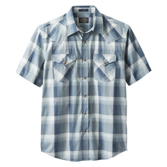 Short Sleeve Frontier Shirt  Blue/Grey/Tan Plaid