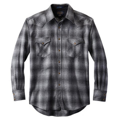 Fitted Canyon Shirt  Grey Ombré
