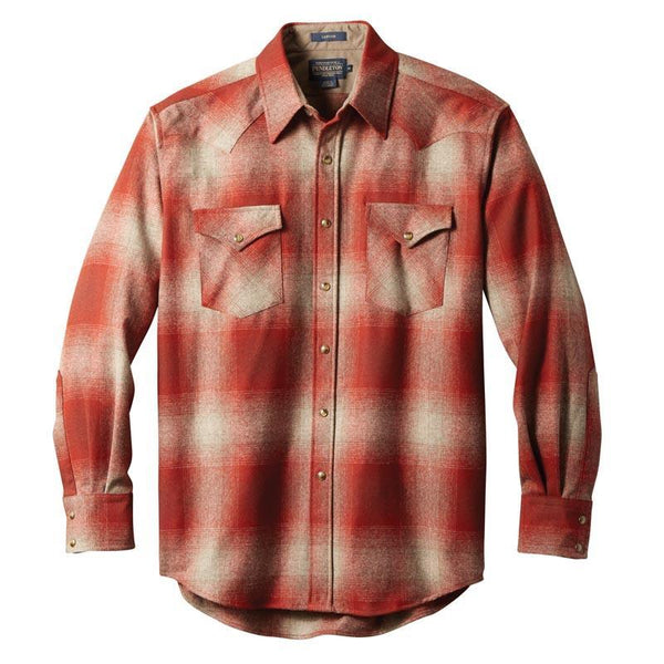 Fitted Canyon Shirt <br> Red & Tan Ombré