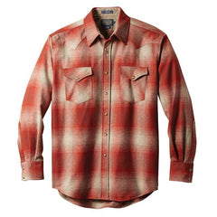 Fitted Canyon Shirt  Red & Tan Ombré